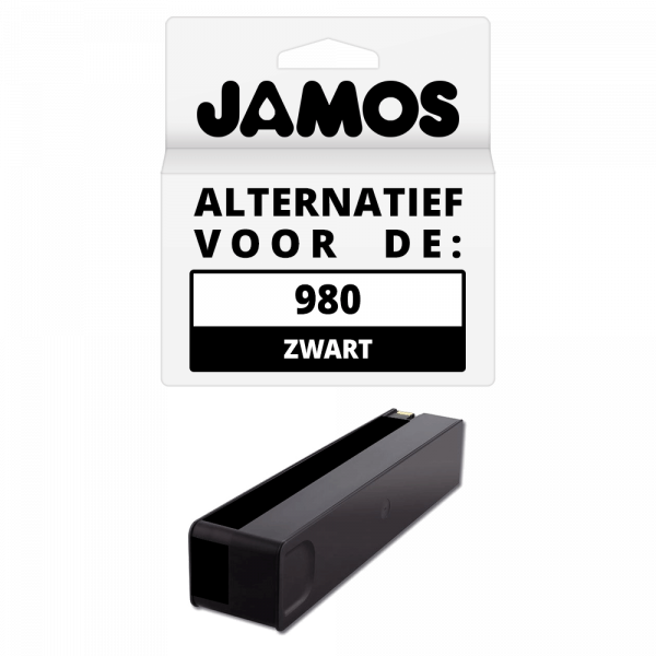 Jamos Inktcartridge Alternatief voor de HP 980 Zwart