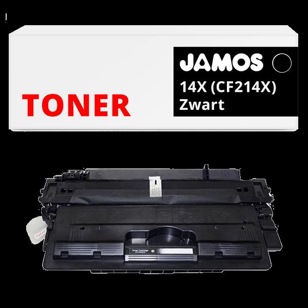 JAMOS Tonercartridge Alternatief voor de HP 14X CF214X Zwart