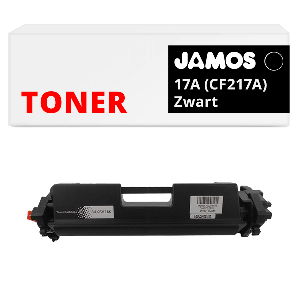 JAMOS Tonercartridge Alternatief voor de HP 17A CF217A Zwart