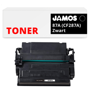 Jamos Tonercartridge Alternatief voor de HP 87A CF287A Zwart