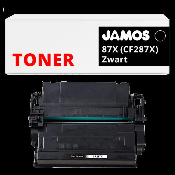 JAMOS Tonercartridge Alternatief voor de HP 87X CF287X Zwart
