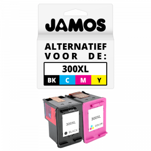 JAMOS® Inktcartridge Alternatief voor de HP 300XL Zwart & Kleur Voordeelset