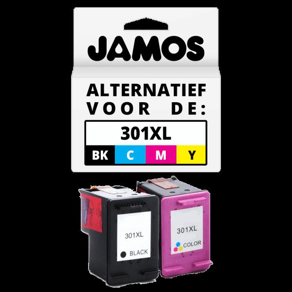 JAMOS Inktcartridge Alternatief voor de HP 301XL Zwart & Kleur Voordeelset