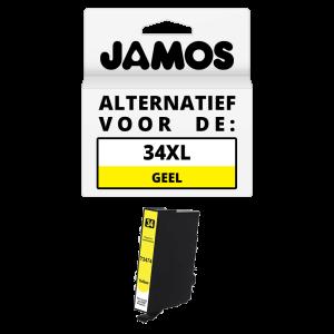 JAMOS Inktcartridge Alternatief voor de Epson 34XL Geel T3474