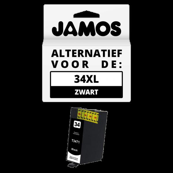 Jamos Inktcartridge Alternatief voor de Epson 34XL Zwart T3471