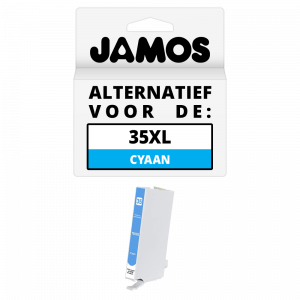 JAMOS Inktcartridge Alternatief voor de Epson 35XL Cyaan T3592