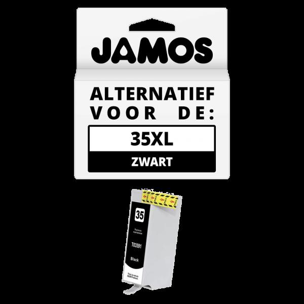 JAMOS Inktcartridge Alternatief voor de Epson 35XL Zwart T3591