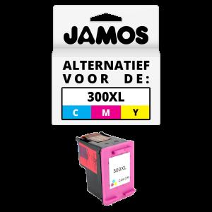 JAMOS® Inktcartridge Alternatief voor de HP 300XL Kleur