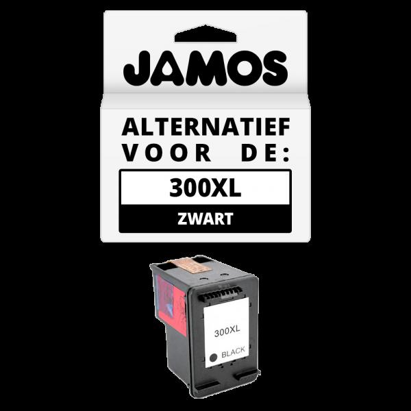 JAMOS® Inktcartridge Alternatief voor de HP 300XL Zwart