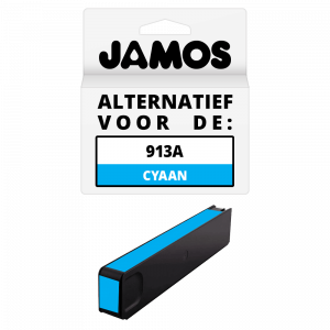 JAMOS Inktcartridge Alternatief voor de HP 913A Cyaan