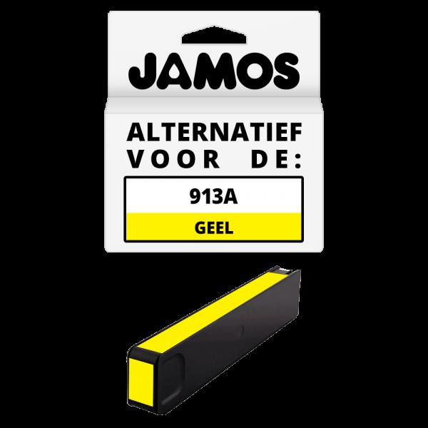 JAMOS Inktcartridge Alternatief voor de HP 913A Geel