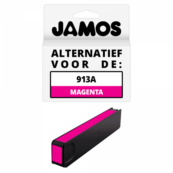 JAMOS Inktcartridge Alternatief voor de HP 913A Magenta