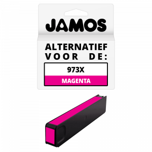 JAMOS Inktcartridge Alternatief voor de HP 973X Magenta