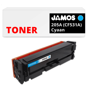 JAMOS Tonercartridge Alternatief voor de HP 205A CF531A Cyaan
