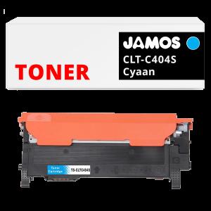 JAMOS Tonercartridge Alternatief voor de Samsung CLT-C404S Cyaan