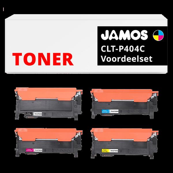 JAMOS Tonercartridges Alternatief voor de Samsung CLT-P404C Voordeelset