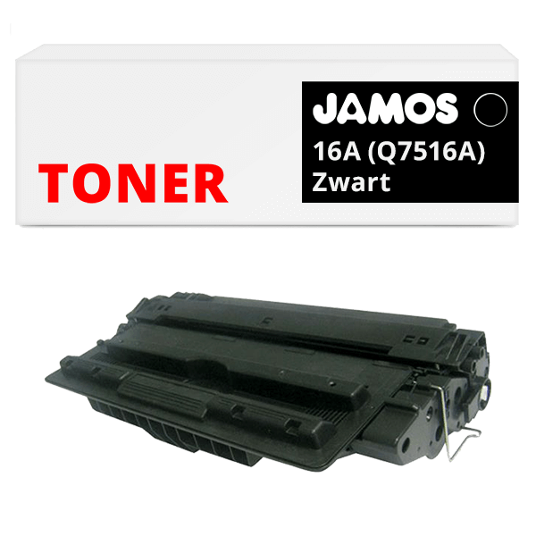 JAMOS Tonercartridge Alternatief voor de HP 16A Zwart Q7516A