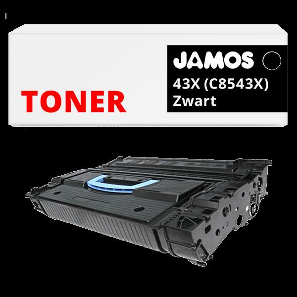 JAMOS Tonercartridge Alternatief voor de HP 43X Zwart C8543X