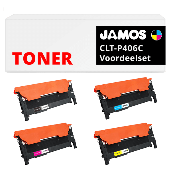 JAMOS Tonercartridges Alternatief voor de Samsung CLT-P406C Voordeelset