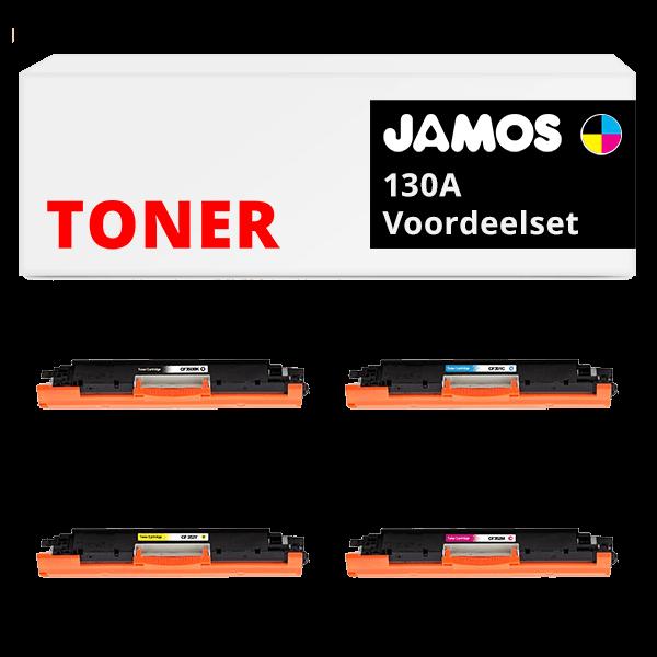 JAMOS Tonercartridges Alternatief voor de HP 130A Voordeelset
