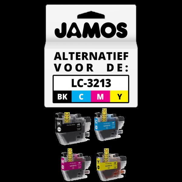 JAMOS Inktcartridge Alternatief voor de Brother LC-3213 Voordeelset