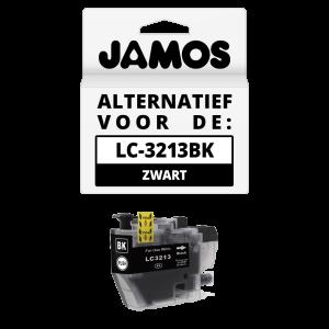 JAMOS Inktcartridge Alternatief voor de Brother LC-3213BK Zwart