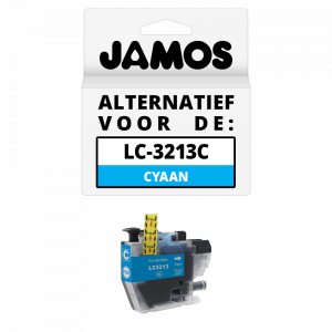 JAMOS Inktcartridge Alternatief voor de Brother LC-3213C Cyaan