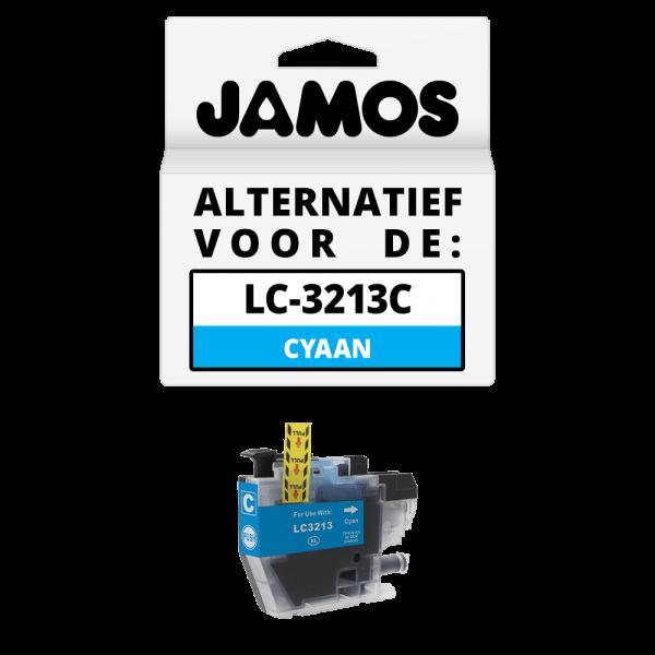 JAMOS Inktcartridge Alternatief voor de Brother LC-3213C Cyaan