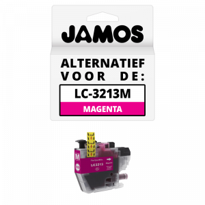 JAMOS Inktcartridge Alternatief voor de Brother LC-3213M Magenta