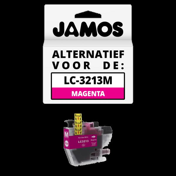 JAMOS Inktcartridge Alternatief voor de Brother LC-3213M Magenta