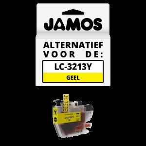 JAMOS Inktcartridge Alternatief voor de Brother LC-3213Y Geel