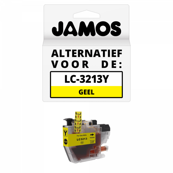 JAMOS Inktcartridge Alternatief voor de Brother LC-3213Y Geel