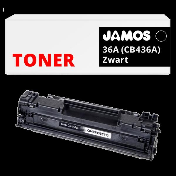 JAMOS Tonercartridge Alternatief voor de HP 36A Zwart CB436A