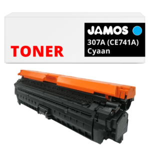 JAMOS Tonercartridge Alternatief voor de HP 307A Cyaan CE741A