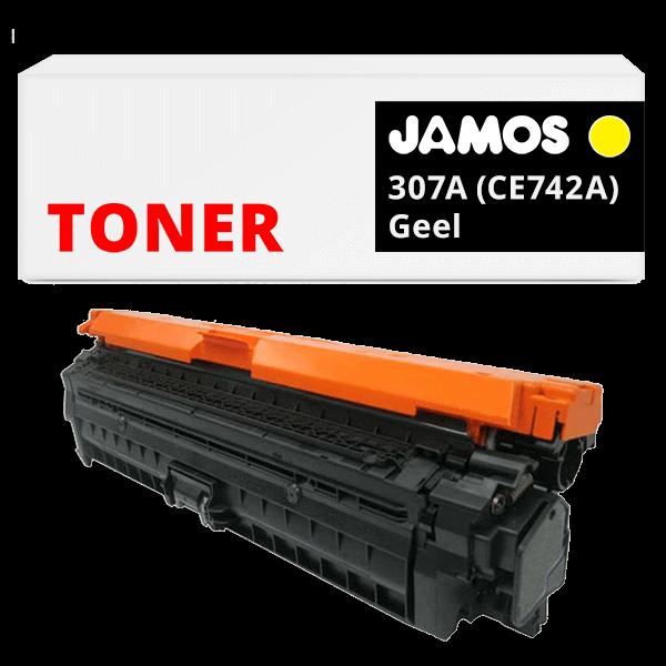 JAMOS Tonercartridge Alternatief voor de HP 307A Geel CE742A