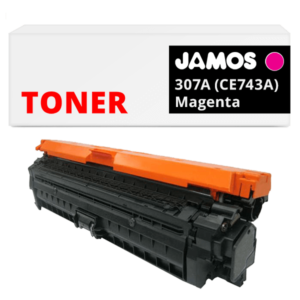 JAMOS Tonercartridge Alternatief voor de HP 307A Magenta CE743A