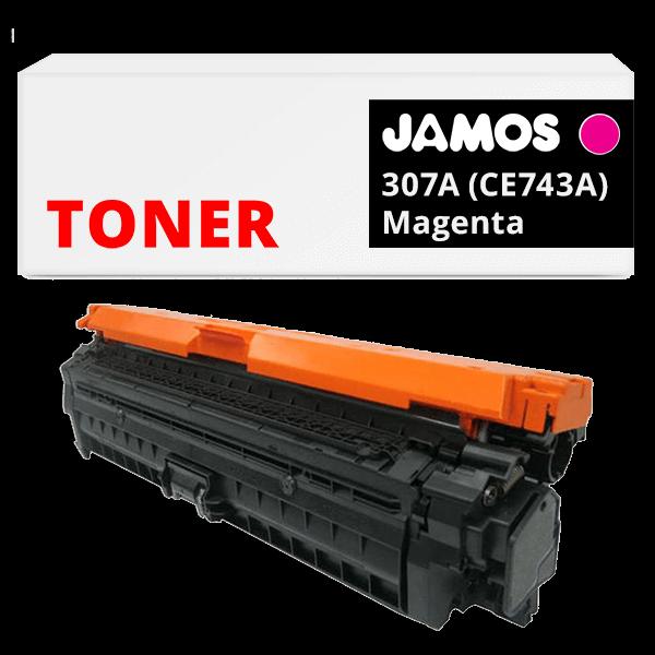 JAMOS Tonercartridge Alternatief voor de HP 307A Magenta CE743A