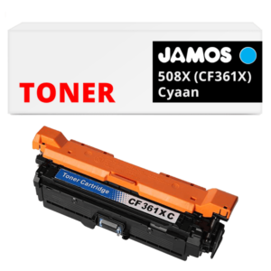 JAMOS Tonercartridge Alternatief voor de HP 508X Cyaan CF361X