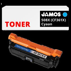 JAMOS Tonercartridge Alternatief voor de HP 508X Cyaan CF361X