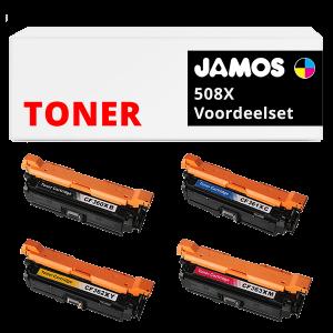 JAMOS Tonercartridges Alternatief voor de HP 508X Voordeelset