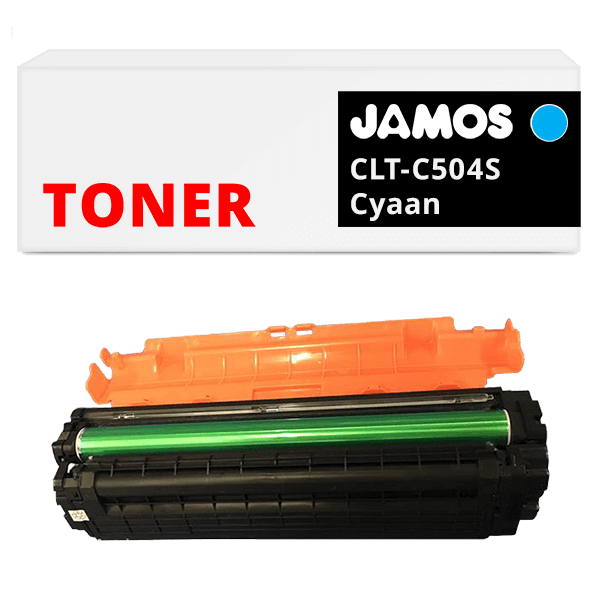 JAMOS-Tonercartridge-Alternatief-voor-de-Samsung-CLT-C504S-Cyaan