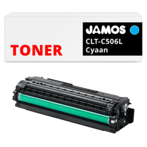 JAMOS Tonercartridge Alternatief voor de Samsung CLT-C506L Cyaan