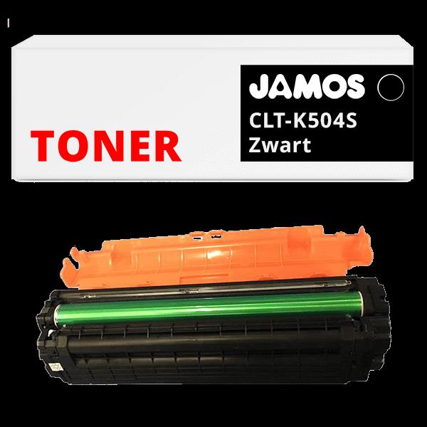 JAMOS Tonercartridge Alternatief voor de Samsung CLT-K504S Zwart