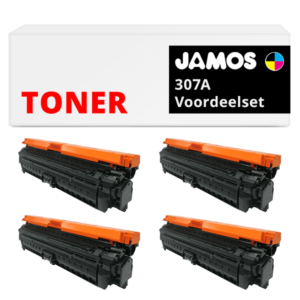 JAMOS Tonercartridge Alternatief voor de HP 307A Voordeelset