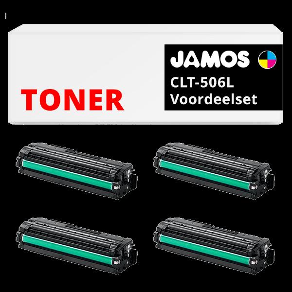 JAMOS Tonercartridges Alternatief voor de Samsung CLT-P506C Voordeelset
