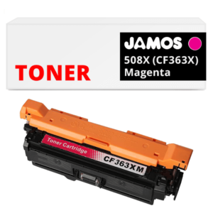 JAMOS Tonercartridge Alternatief voor de HP 508X Magenta CF363X