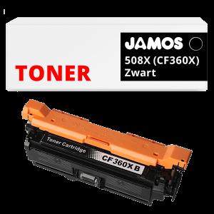 JAMOS Tonercartridge Alternatief voor de HP 508X Zwart CF360X