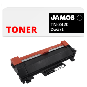 JAMOS Tonercartridge Alternatief voor de Brother TN-2420 Zwart