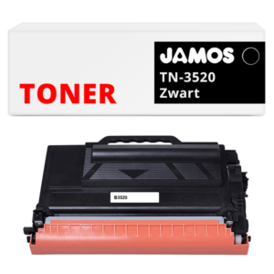 JAMOS Tonercartridge Alternatief voor de Brother TN-3520 Zwart