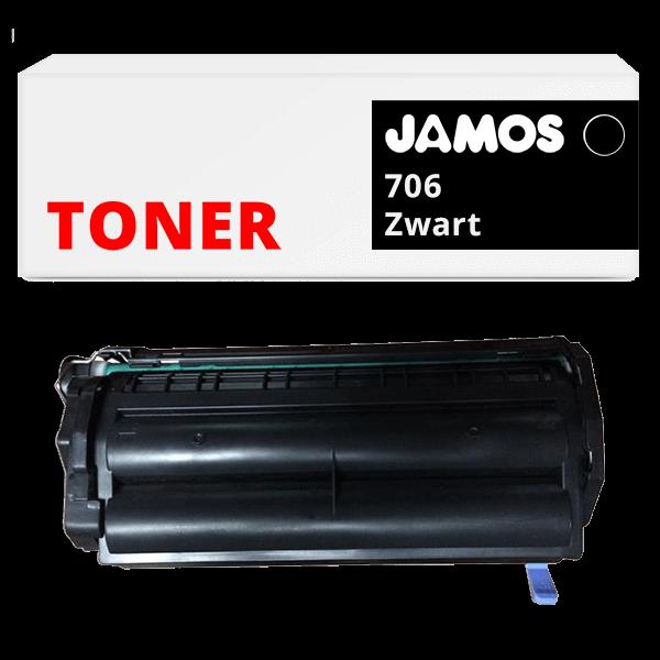 JAMOS Tonercartridge Alternatief voor de Canon 706 Zwart